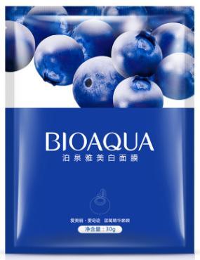 Питательная маска «BIOAQUA» с экстрактом голубики 30 гр