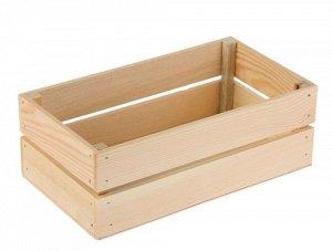 Ящик дерево 24,5х13,5хH9см, №1 один кирпич, натуральный
