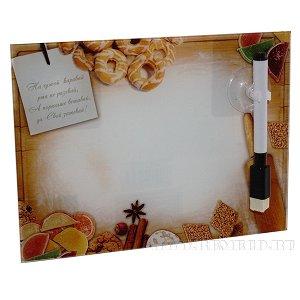 Доска для записей с маркером,  L20 W1 H15 см