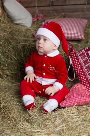 Комплект (комбинезон и колпак) Санта-Клаус