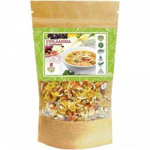 Суп вермишелевый с овощами и курицей. 160 гр.Быстрого приготовления