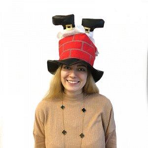 Шляпа Санта Клаус в дымоходе/А