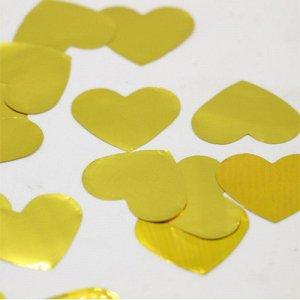 Конфетти Сердца фольг золотые 3см 300гр