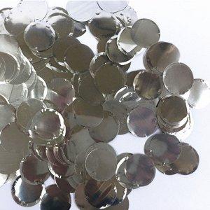 Конфетти Круги фольг серебро 2см 300гр