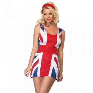 Костюм Платье Британский Флаг р-р44-48/Ф