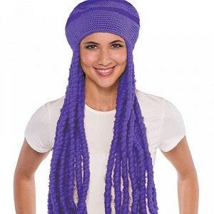 Шапка с дредами фиолетовая/A