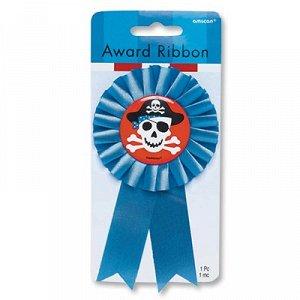 Значок Пират с голубой лентой/A