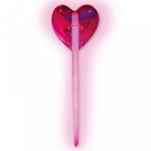 Светящ Палочка Сердце розовая