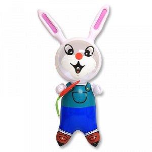 Игрушка надувная Кролик с морковкой 40см