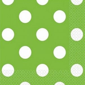 Салфетка Festiv Green горошек 25см 16штA