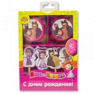 Декор-компл д/кекса Маша и Медведь48шт/G