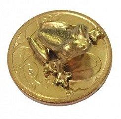 Лягушка кошельковая, на 10 коп цвет золото (в упак)