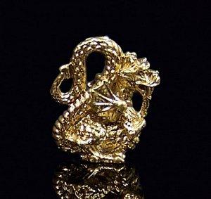Кошельковый дракон, цвет золото (в упаковке)