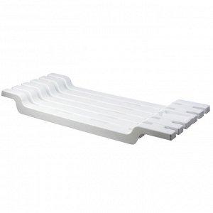 Сиденье Полка на ванну БЕЛЫЙ. Размеры изделия: 300x70x680 мм.
