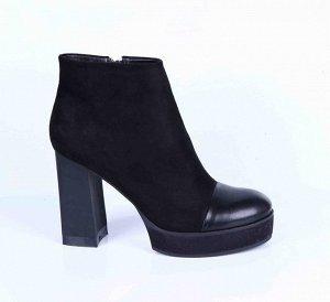 18088-03-1A черный (Т/Байка) Ботинки женские