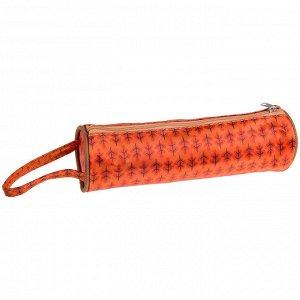 """Пенал-тубус 200*60 ArtSpace """"Orange firs"""", полиэстер, с ручкой"""