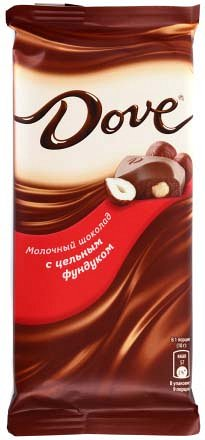 Dove молочный шоколад с цельным фундуком, 90 г