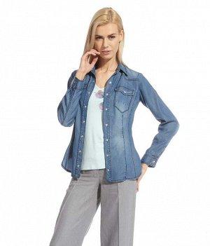 Рубашка Тенсель - очень мягкая шелковистая ткань под джинсу
