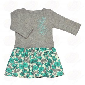 Платье Платье «Леди», Стильное платье для маленькой леди, выполнено из капитония, в сочетании однотонного и набивного. Данное полотно достаточно хорошо держит форму, благодаря этому платье прекрасно л