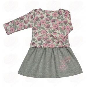платье Платье «Весенний вальс», Милое платье для юной принцессы, выполнено из капитония, в сочетании набивного полотна с крупным цветочным орнаментом и однотонного. По юбочке платье декорировано вышив