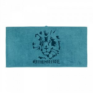 УРСКОГ Банное полотенце, лев, синий