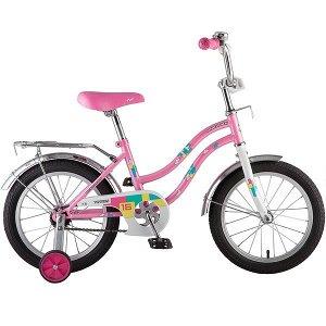"""Велосипед NOVATRACK 16"""", TETRIS, розовый, тормоз нож., крылья и багажник хром."""