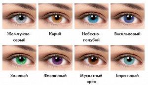 Перекрывающие цветные контактные линзы Офтальмикс Butterfly (1-тоновые) (2 линзы)