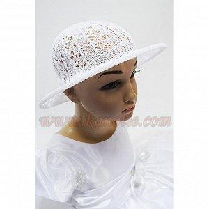Шляпа Размер: 44-54, Состав: 100%хлопок, Цвета: нежно-розовый и белый., Шляпа-панама летняя. Ажурная вязка позволяет одеть шляпу как маленькой моднице, так и девочке-подростку., Посадка на голове очен