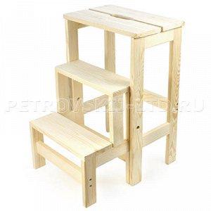 Табурет-стремянка складной деревянный