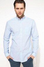 Рубашка / сорочка мужская голубая