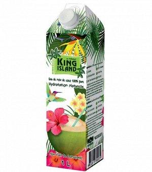 Кокосовая вода без сахара  KING ISLAND 1000мл