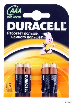 Батарейки DURACELL LR 03-4BL  Basic  K4(48/192)(Цена за 4 шт.)