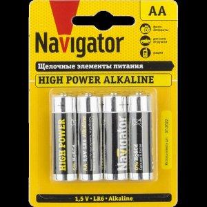 Батарейки NAVIGATOR 94 753 LR6-4BL (80\400)(Цена за 4 шт.)