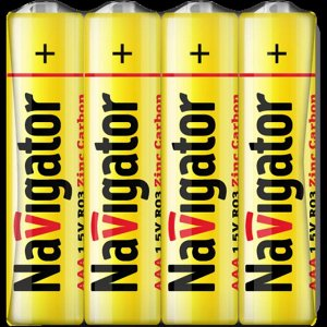 Батарейки NAVIGATOR 94 757 R3-SH4 (60\600)(Цена за 4 шт.)