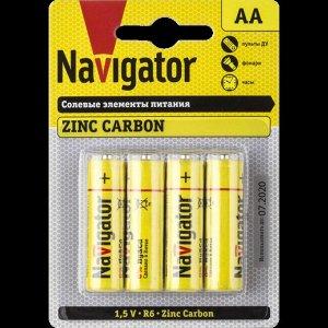 Батарейки NAVIGATOR 94 758 NBT-NS-R06-4BL (48\240)(Цена за 4 шт.)