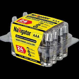 Батарейки NAVIGATOR 94 787 NBT-NE-LR03-BOX24 (120/720)(Цена за 24 шт.)