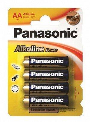 Батарейки PANASONIC ALKALINE LR6/4BP (48)(Цена за 4 шт.)