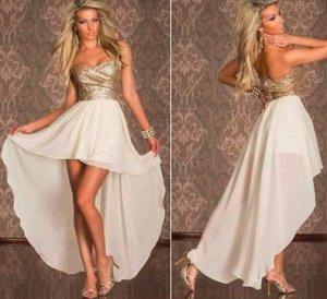 Асимметричное платье-бандо Цвет: БЕЖЕВЫЙ