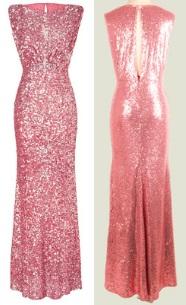 Платье-макси без рукавов расшитое пайетками Цвет: РОЗОВЫЙ