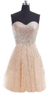 Платье-бандо расшитое пайетками Цвет: ШАМПАНЬ