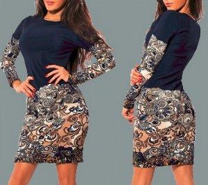 Платье с принтом и длинными рукавами Цвет: НА ФОТО