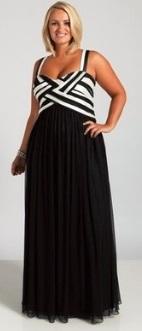 Платье-макси с завышенной талией без рукавов Цвет: ЧЕРНЫЙ С БЕЛЫМ