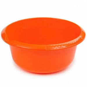 Миска Миска  2,5л  б/к МАНДАРИН.Практичная миска на 2,5 литра удобна как для готовки и хранения, так и для промывания продуктов. Небольшой носик аккуратно сливает жидкость тонкой струйкой. Рифленые ру