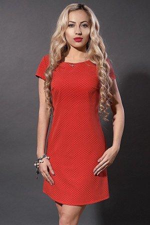 Платье с отличной посадкой р. 48  (красный)