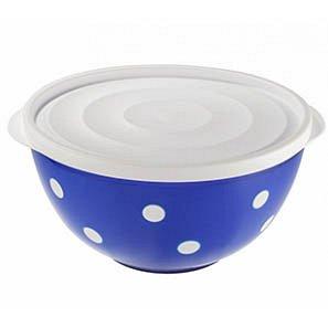 Салатник Салатник 1,4л с крышкойСИННИЙ-БЕЛЫЙ. Практичная емкость Marusya на 1,4 литра станет отличным дополнением к кухонной утвари. В такой посуде удобно не только подавать салаты на стол, но и храни