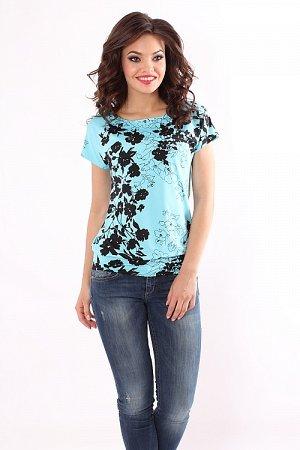 блузка из тонкого трикотажа р 46-48