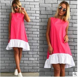 Платье-туника без рукавов