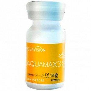 Контактные линзы длительного ношения (PEGAVISION) AQUAMAX 38 (1фл = 1 линза)