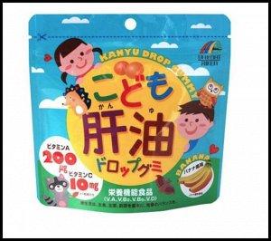 Unimat Riken Рыбий жир со вкусом банана (100 конфет)