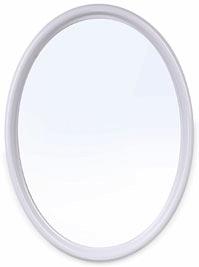 Зеркало Зеркало БЕЛЫЙ МРАМОР [Sonata]. Зеркало классической овальной формы Sonata может крепиться к стене как вертикально, так и горизонтально. Цветовая палитра светлых тонов позволит подобрать данный